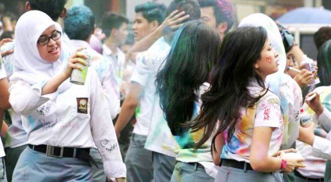 Aksi coret kelulusan siswa