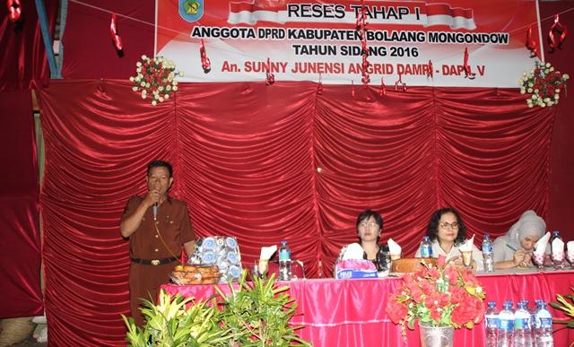 DPRD Bolmong Serap Aspirasi Warga