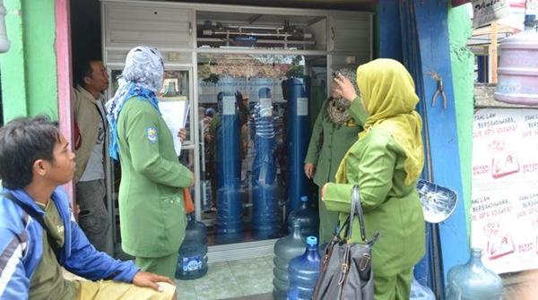 Salah satu Depot air minum isi ulang