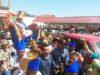 Prosesi adat. Bupati Salihi diantar dengan adat Mongondow