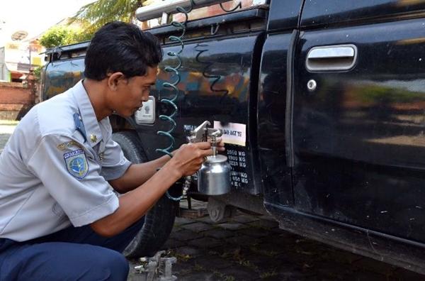 Dishub Bolmong Uji Berkala Kendaraan Perusahaan