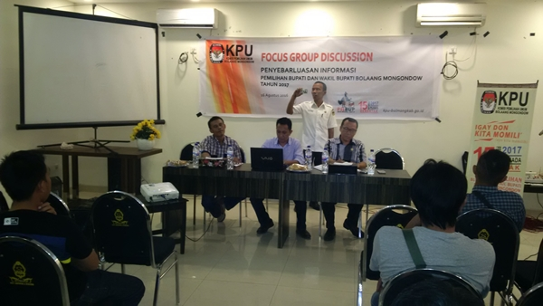 KPU Bolmong Gelar Focus Group Discussion Bersama Insan Pers