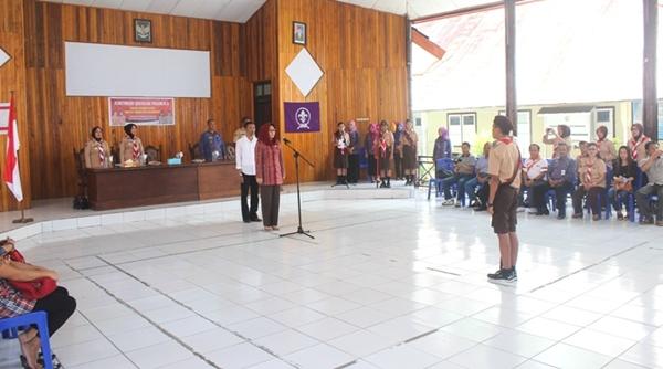 Wali Kota Kotamobagu Lepas Kontingen Pramuka ke Jamnas