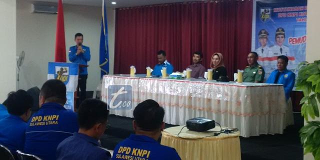 Musda III KNPI Kotamobagu yang dibuka oleh Wali Kota Tatong Bara