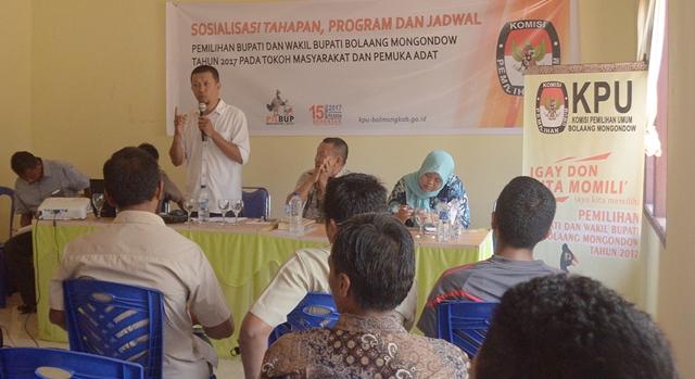 KPU Bolmong Gencar Sosialisasi Gunakan Bahasa Daerah