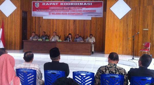 Suasana rapat FKUB di aula Pemkot Kotamobagu
