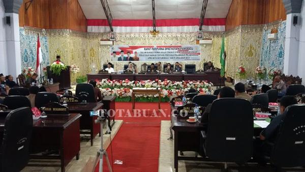 Suasana Rapar Paripurna LKPJ di Gedung DPRD kota Kotamobagu