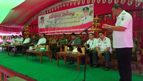 Pemprov dan Pemkab Bolmong Gelar Gerakan Panen Padi dan Bolmong Menaman