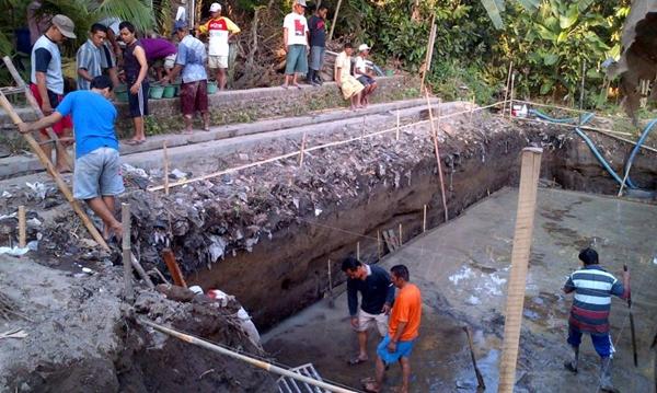 Contoh salah satu pembangunan IPAL Komunal