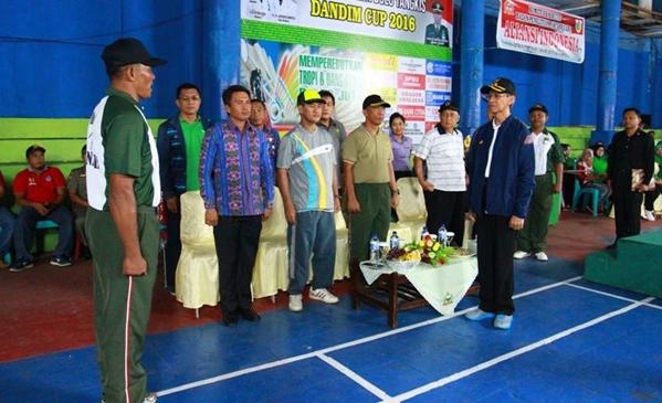 Wakil Wali Kota Buka Open Turnamen Kejuaraan Badminton