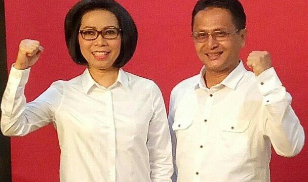 Pasangan Yasti Soeprejo Mokoagow dan Yanny Ronny Tuuk