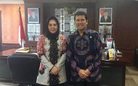 Wali Kota Tatong Bara bersama Menpan-RB Asman Abnur
