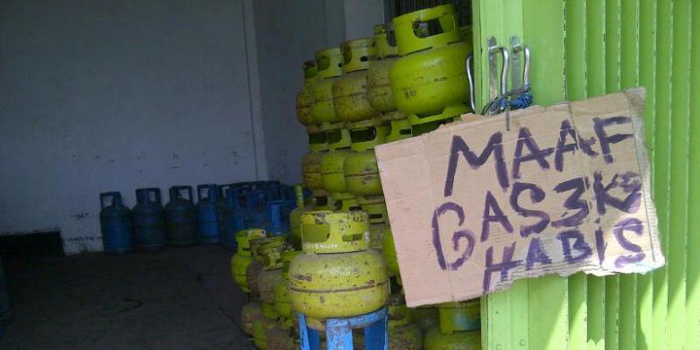 Kuota Gas Elpiji Tiga Kilogram Berkurang di Agen