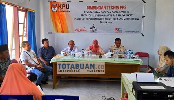 KPU Bolmong Siap Tetapkan Bakal Pasangan Calon