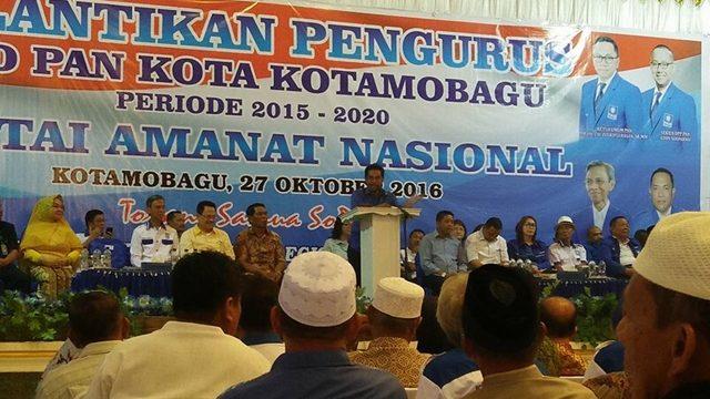 Ini Target Jainuddin Usai Dilantik Sebagai Ketua DPD PAN Kotamobagu
