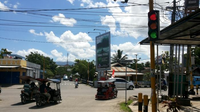 Dishub Pasang Traffic Light di Perempatan Matali