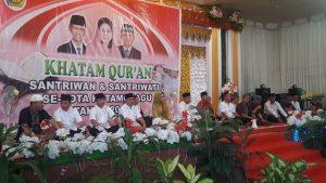 Wali Kota bersama para pimpinan SKPD dan para ustadz saat hadir dalam perayaan Khatam Quran perayaan Tahun Baru Hijriyah