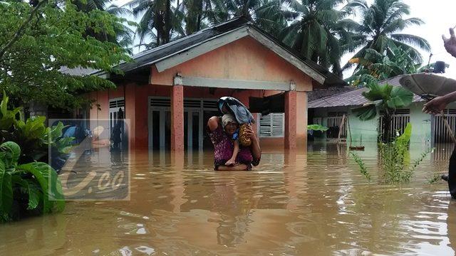 Ratusan Rumah di Kabupaten Bolmut Terendam Banjir