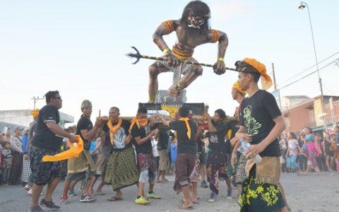 Umat Hindu di Bolmong Gelar Pawai Ogoh-Ogoh Sambut Hari Raya Nyepi