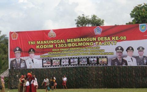 TMMD ke 98 di Bolmong Dipusatkan di Kecamatan Bilalang