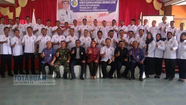 Pengurus KONI Kotamobagu Periode 2017-2021 Dilantik