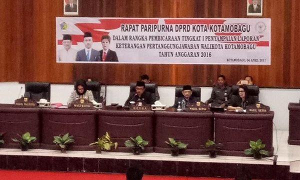 DPRD Kotamobagu Gelar Rapat Paripurna Terkait LKPD 2016
