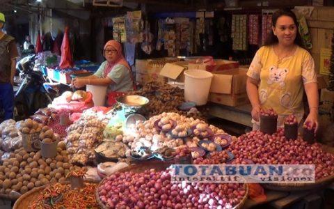 Harga Bawang Putih di Pasar Tradisional Kotamobagu Naik Hingga 50 Perkilo