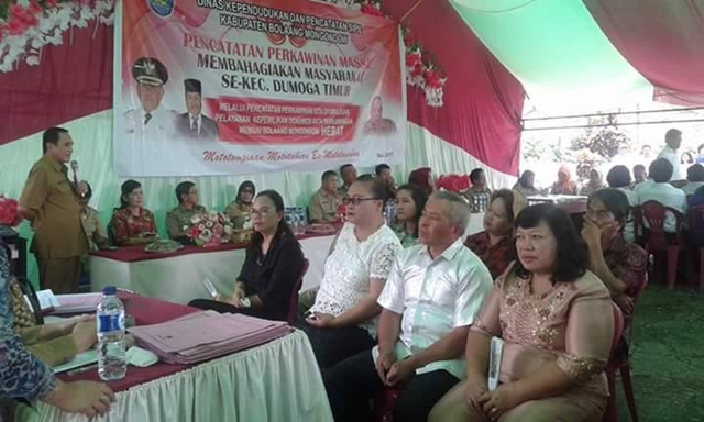 Di Kabupaten Bolmong 300 Pasang Ikut Program Nikah Massal