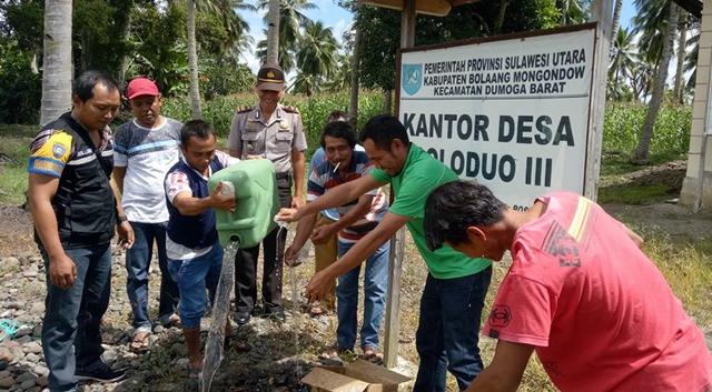 Pemerintah Desa dan Lembaga Adat Doloduo Berhasil Amankan Miras