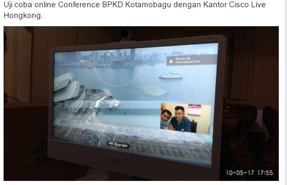 Pemkot Kotamobagu Mulai Uji Coba Video Conference