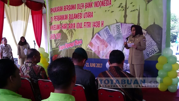Walikota Kotamobagu Buka Acara Penukaran Uang