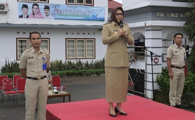 Pimpin Apel Perdana, Walikota Ingatkan Berbagai Hal
