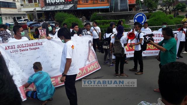 Jelang Banding MMS, Sejumlah Pemuda Gelar Aksi Seribu Tanda Tangan