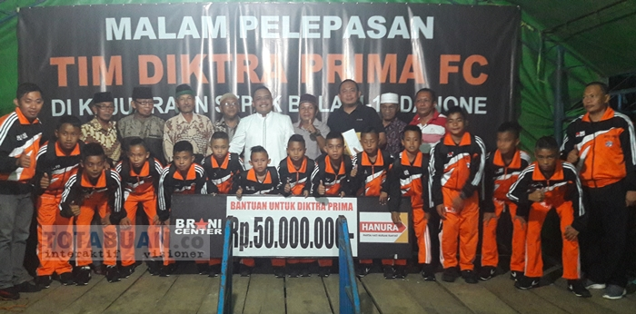 Hanura Bantu 50 Juta Untuk Diktra Prima FC Pobundayan