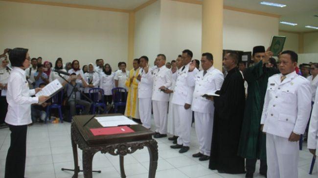 Bupati Bolmong Lantik Tujuh Penjabat Kepala Desa