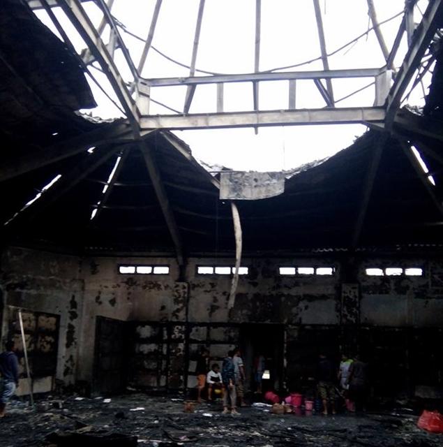 Lantai III Kantor Bupati Bolsel Terbakar