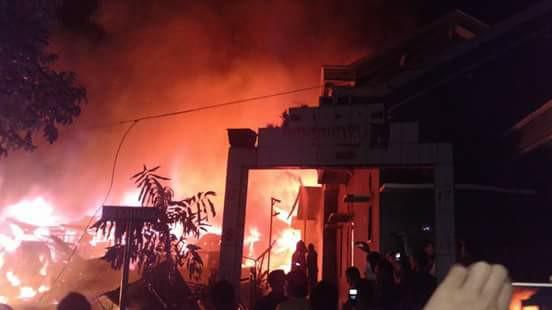 Puluhan Rumah dan Satu Musholah Terbakar di Kotamobagu