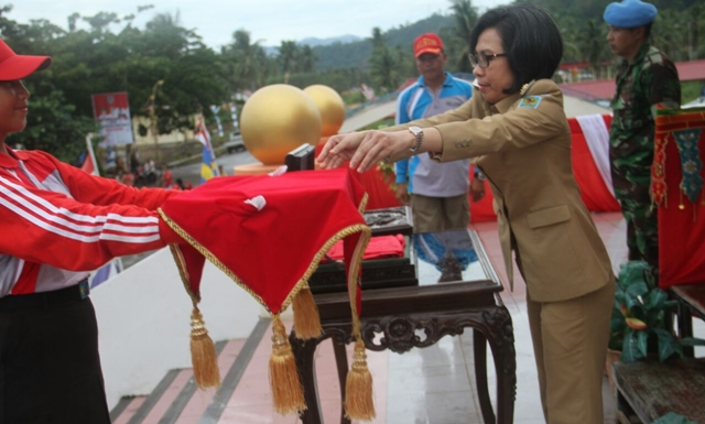 Bupati Bolmong Pimpin Gladi Resik Upacara HUT RI ke 72