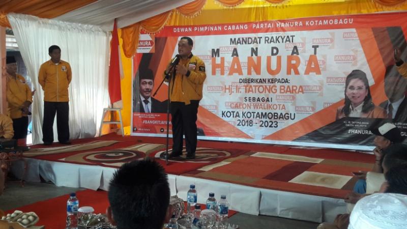 Benny Rhamdani Beber Alasan Hanura Usung Petahana di PIlkada Kotamobagu