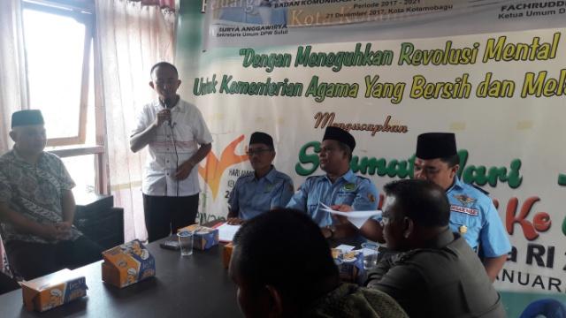 Toufan Mamonto Terpilih Ketua DPD BKPRMI Kotamobagu