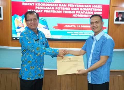 BKPP Kotamobagu Terima Nilai Kompetensi Pejabat Tinggi Pratama dari BKN