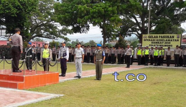 Polres Bolmong Gelar Pasukan Keselamatan Samrat 2018