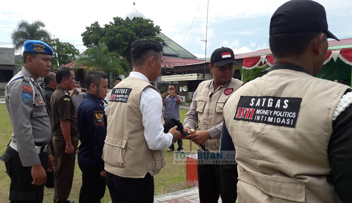 Polres Bolmong Launching Satgas Anti Money Politik dan Anti Intimidasi PIlkada Kotamobagu