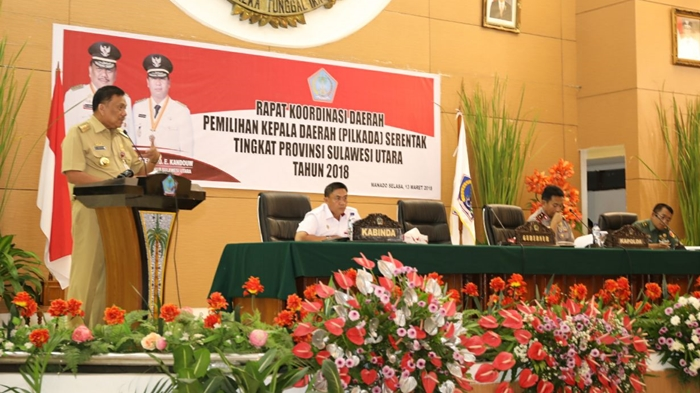 Walikota Kotamobagu Hadiri Rakor Pilkada Serentak Tingkat Provinsi Sulut