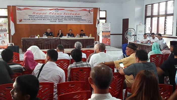 KPU Kotamobagu Tetapkan Jumlah Dukungan Calon Independen, Panwaslu Protes