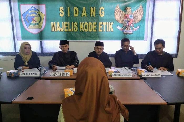 Senin BKPP Sidang Kode Etik Oknum PNS Yang Menolak SK Walikota