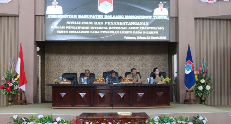 Wabup Boltim Buka Kegiatan Sosialisasi Pengawasan Internal dan LHKPN