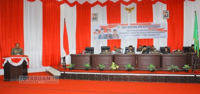 Walikota Beberkan Prestasi Yang Diraih Kota Kotamobagu di Rapat Paripurna DPRD