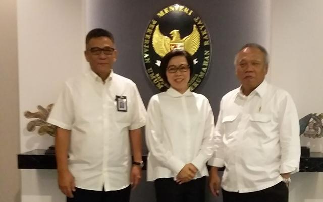 Bupati Bolmong Bertemu Menteri PUPR Tindaklanjuti Pelebaran Jalan Nasional