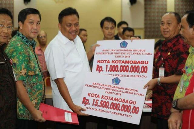 Pemkot Kotamobagu Terima 16,5 Miliar Bantuan Provinsi Sulut